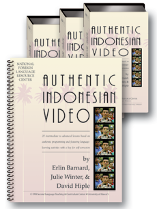 Authentic Indonesian video (text + 3 videotapes)