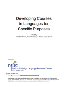 Developing Courses in Languages for Specific Purposes