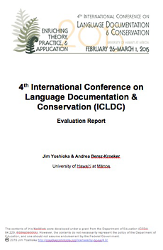 4th International Conference on Language Documentation & Conservation (ICLDC) evaluation report
