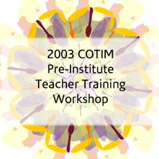 COTIM (Consortium for the Teaching of Indonesian & Malay) Pre-Institute Teacher Training Workshop (2004)