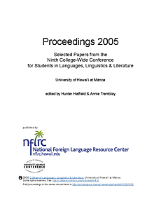 Proceedings 2005: Selected papers from the ninth college-wide conference for students in languages, linguistics, and literature