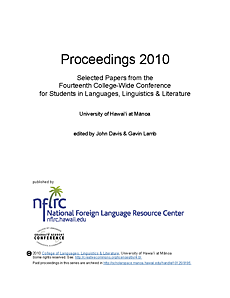Proceedings 2010: Selected papers from the fourteenth college-wide conference for students in languages, linguistics, and literature