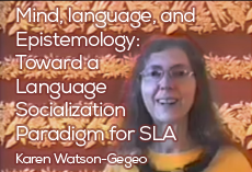 Mind, language, and epistemology: Toward a language socialization paradigm for SLA