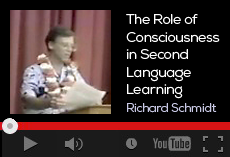 The role of consciousness in second language learning